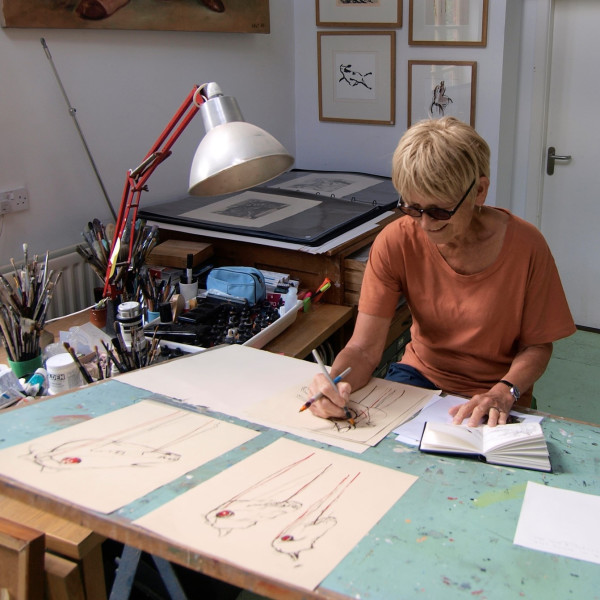 Julia Midgley in her studio