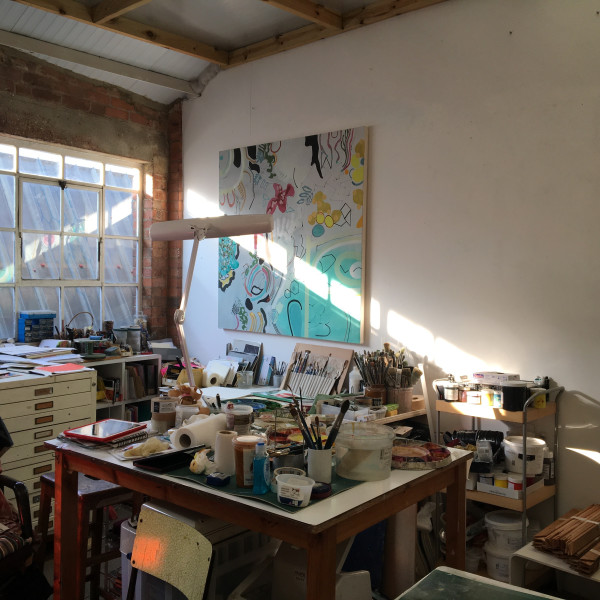 Chloe Fremantle's studio in West London