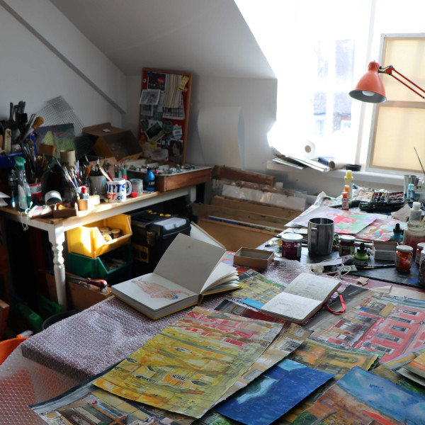 Peter Quinn's studio in Newcastle
