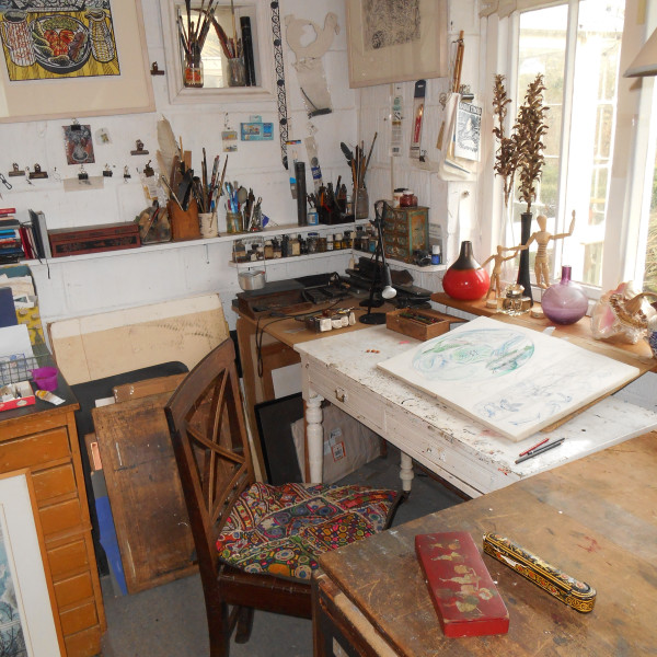 Richard Bawden's studio in Suffolk