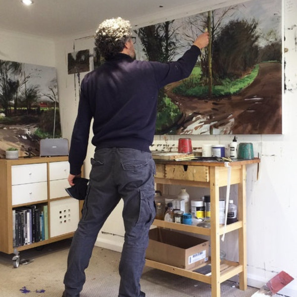 Paul Regan in his studio