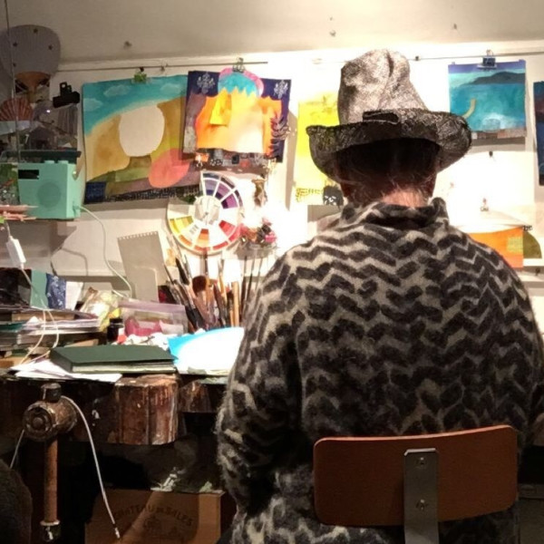 Gertie Young in her studio in South London