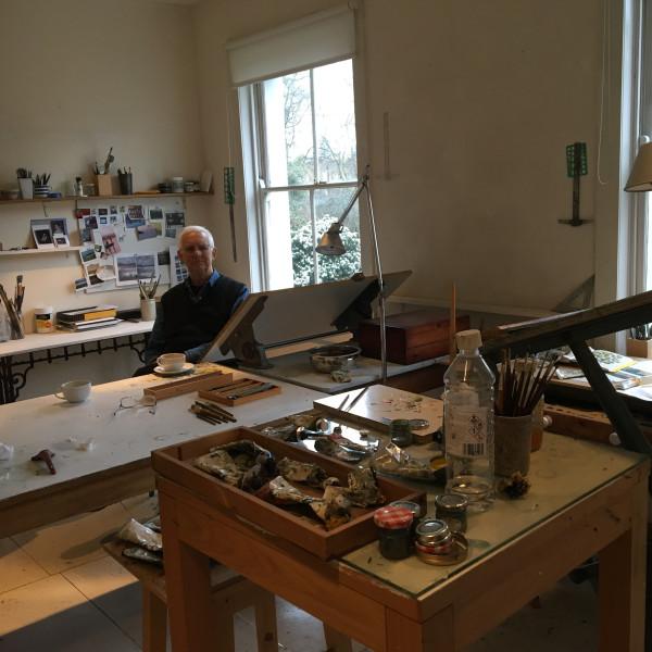Martin Leman in his studio in Islington