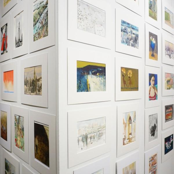Artworks from the 2017 Secret Postcard Sale