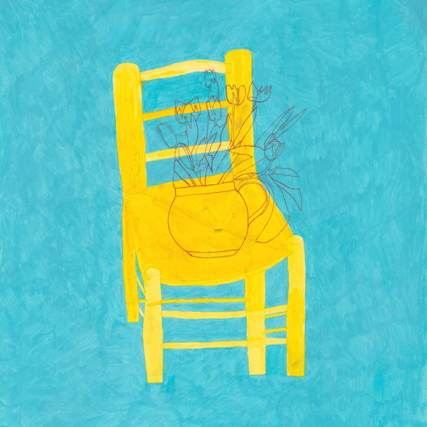 Jack Haslam, Yellow Chair & Tulips, watercolour & acrylic