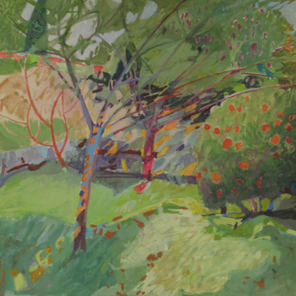 Annie Williams RWS, Garden at the Chateau in Nice