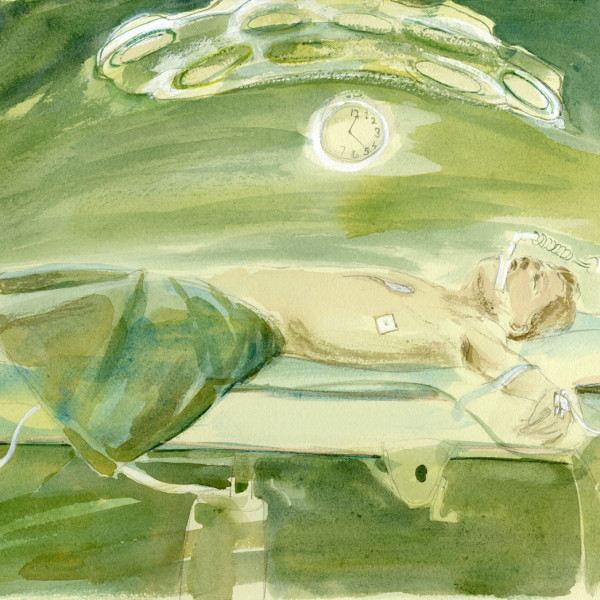 Julia Midgley RWS, Operation Completed V.1, watercolour and pencil