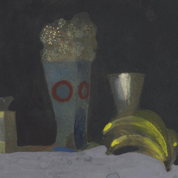 Charles Williams RWS, Still Life with Flowers & bananas