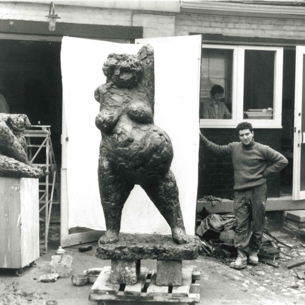 From page 114, Anthony Caro with Woman in Pregnancy,Hampstead, c.1955. Photographer unknown.