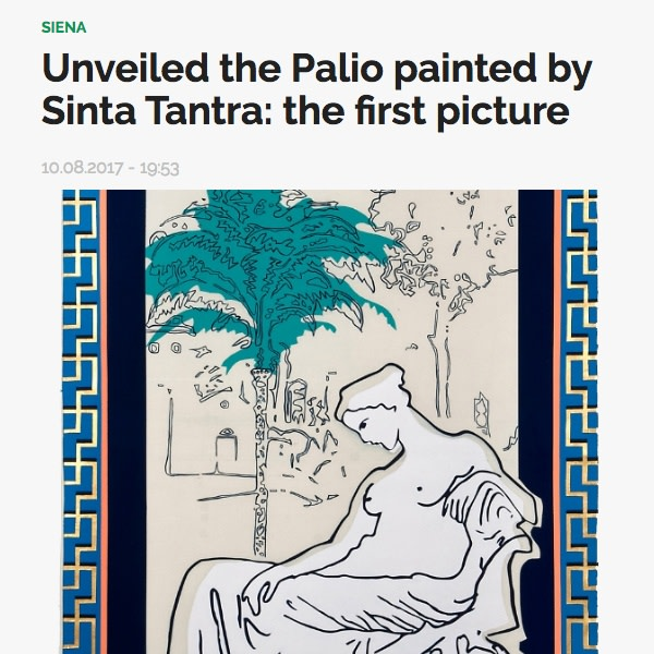 Svelato ii Palio di pinto da Sinta Tantra: la prima foto
