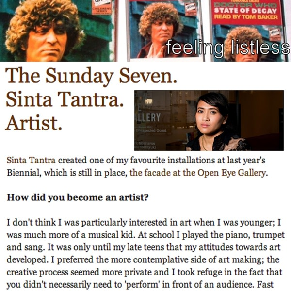 The Sunday Seven: Sinta Tantra