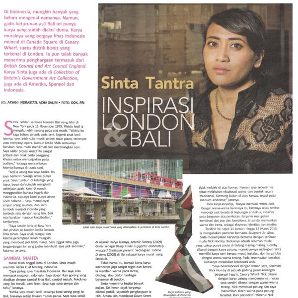 Sinta Tantra Inspirasi London & Bali