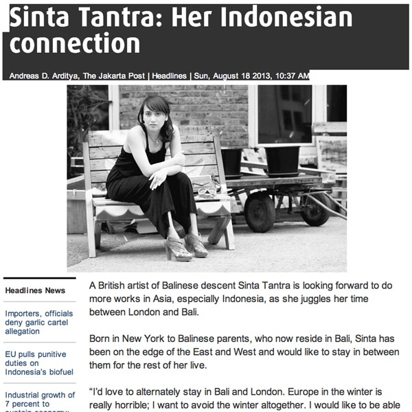 Sinta Tantra: Her Indonesian Connection