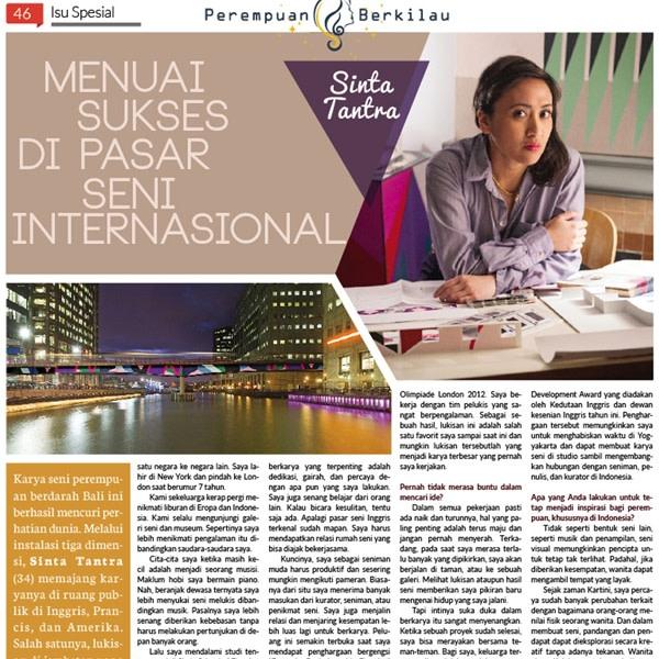 Menuai sukses di pasar seni internasional