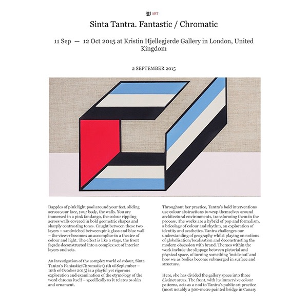 Sinta Tantra. Fantastic/Chromatic