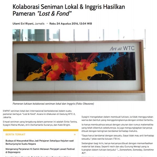 """Kolaborasi Seniman Lokal & Inggris Hasilkan Pameran """"Lost & Fond"""""""