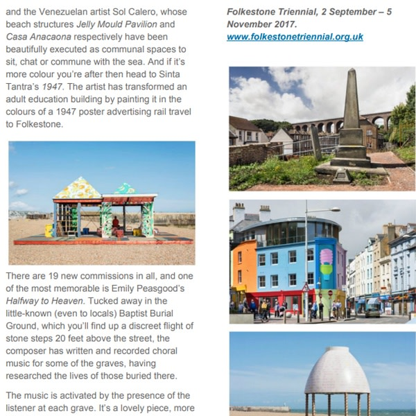 Folkestone Triennial 2017: great outdoors art with space for transformation