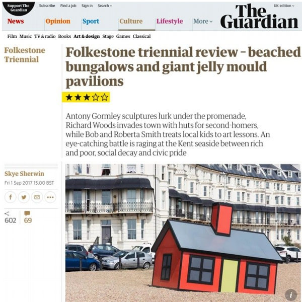Folkestone triennial review- beached bungalows and giant jelly mould pavilions