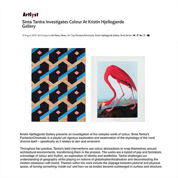 Sinta Tantra Investigates Colour at Kristin Hjellegjerde Gallery