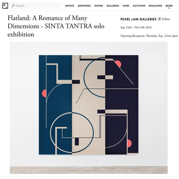 Flatland: A Romance of Many Dimensions- Sinta Tantra Solo Exhibition