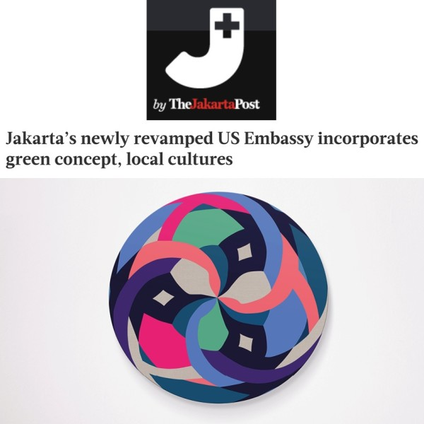 Jakarta's newly revamped US Embassy incorporates green concept in local cultures.