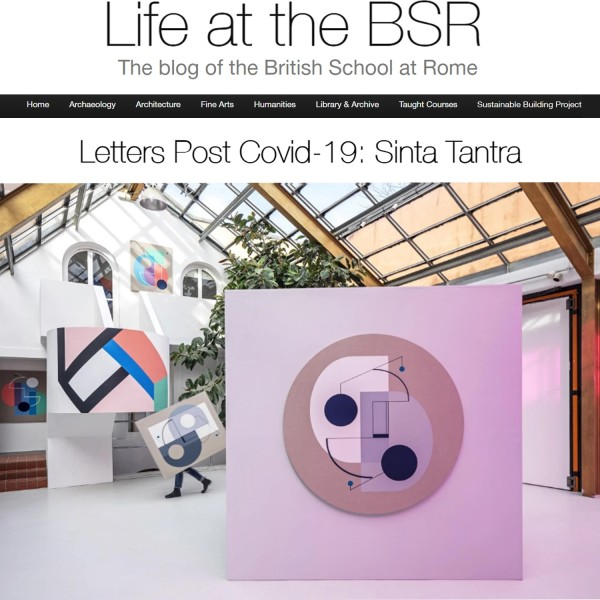 Letters Post Covid-19: Sinta Tantra