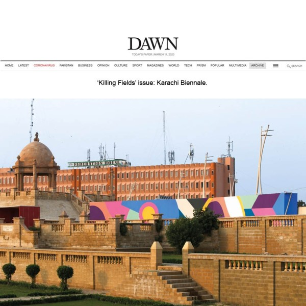 'Killing Fields' issue: Karachi Biennale.