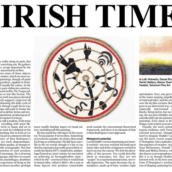 CAROL HODDER IRISH TIMES REVIEW