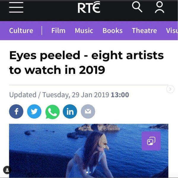 RTÉ: Eyes peeled - eight artists to watch in 2019