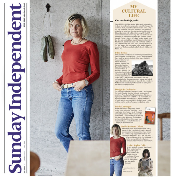 SUNDAY INDEPENDENT: CLÉA VAN DER GRIJN