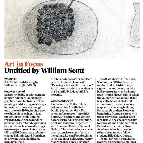 IRISH TIMES ART IN FOCUS: WILLIAM SCOTT
