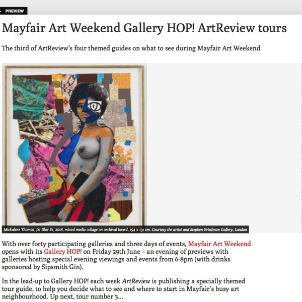 Mayfair Art Weekend Gallery HOP! ArtReview tours