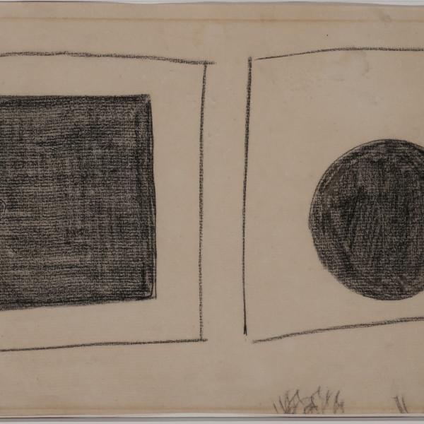 KAzimir Malevich, Black Square and circle, pencil paper, 19.5 x 31, 1920/21