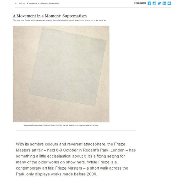 A Movement in a Moment: Suprematism