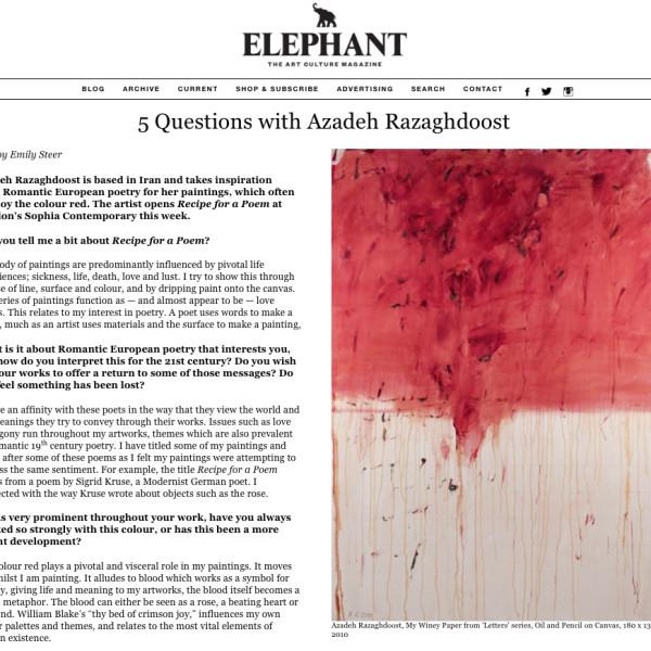 ELEPHANT THE ART CULTURE MAGAZINE
