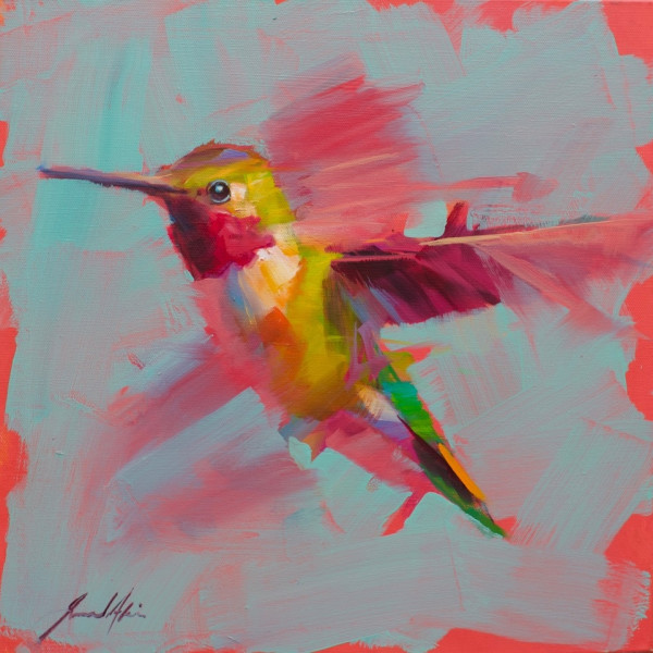 Jamel Akib - Small Hummingbird - Purple No.2, 2020