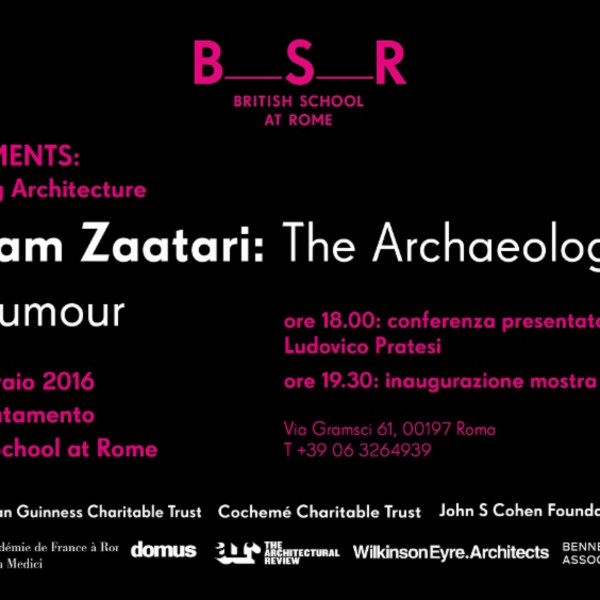 Akram Zaatari at British School at Rome