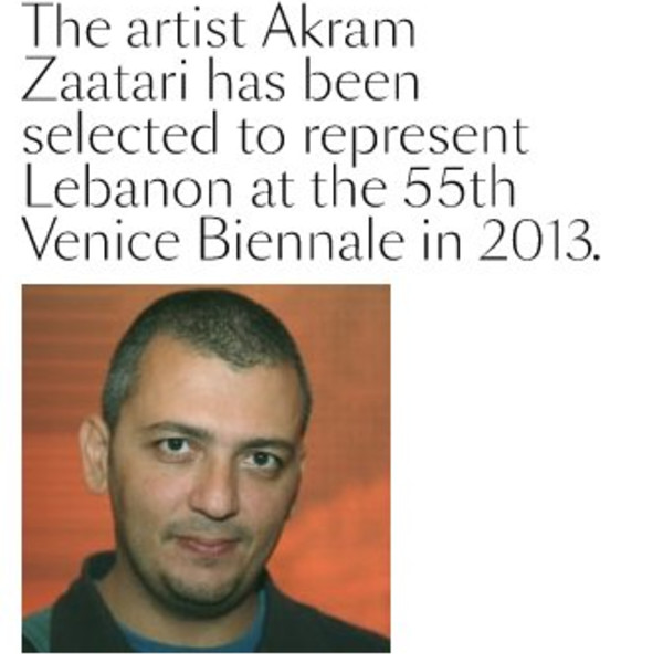Akram Zaatari represents Lebanon at the 55th Venice Biennale 2013
