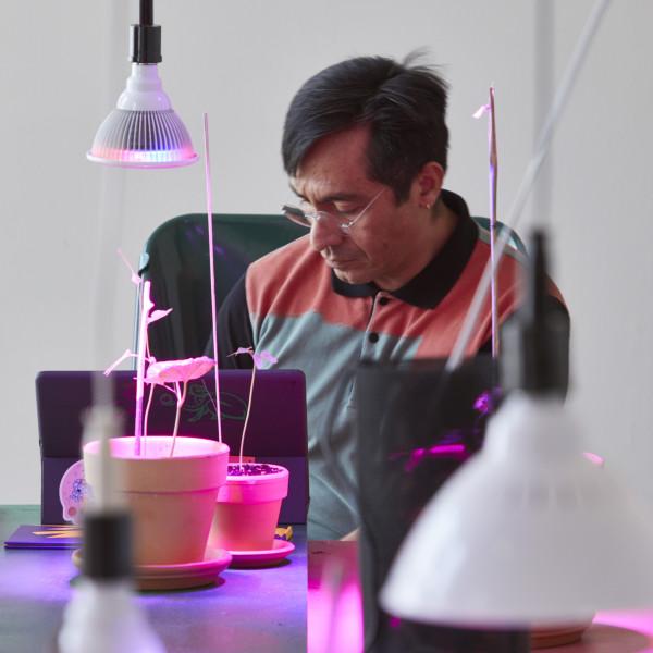 Abraham Cruzvillegas: The Water Trilogy 2: Autodefensión Microtonal Obrera Campesina Estudiantil Metabolista Descalzaat at Fondation d'entreprise Hermès, Tokyo