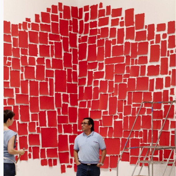 Artists Installing: Abraham Cruzvillegas