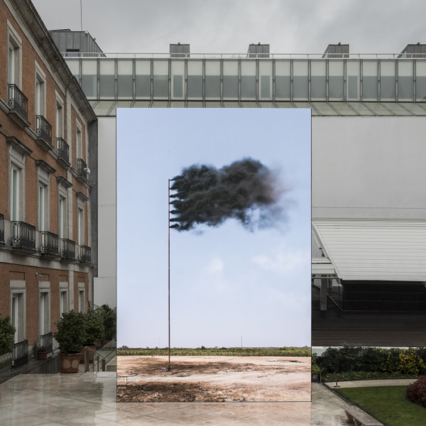 02.12.2019 - John Gerrard: 'Western Flag (Spindletop, Texas)' at Museo Nacional Thyssen-Bornemisza, Madrid