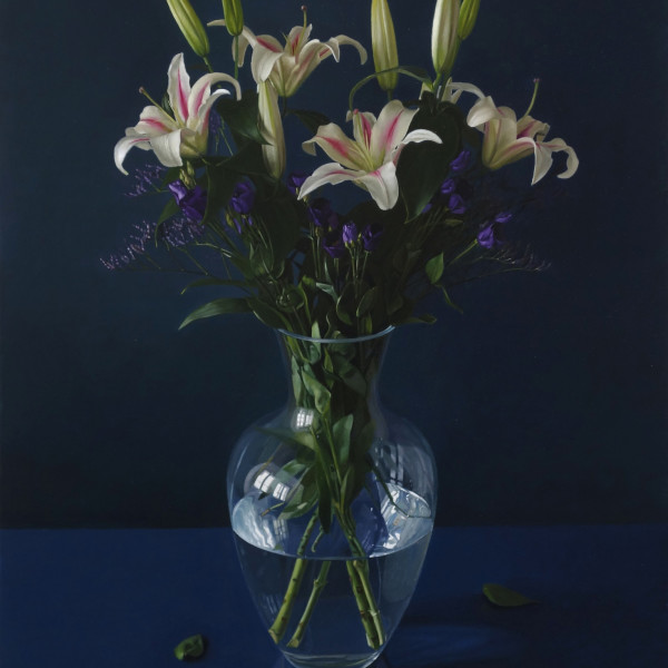 Jan Mikulka - Still Life with Lillies