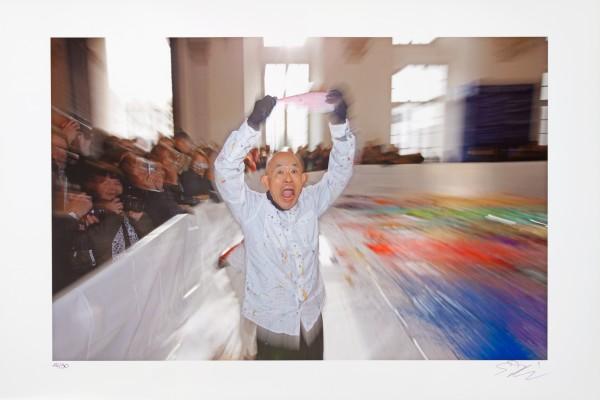 Shozo Shimamoto, Palazzo Ducale Genova Performance Photos, 2008