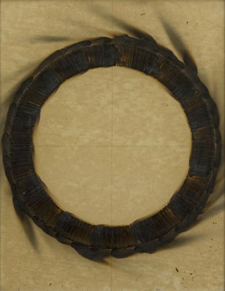 Bernard Aubertin, Dessin de feu circulaire, 1973