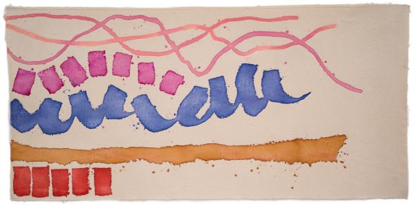 Giorgio Griffa, Movimento rosa, 2008
