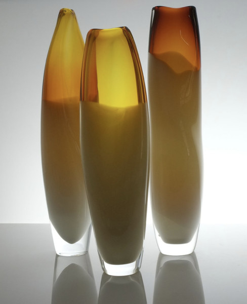 Michele Oberdieck, Tall Amber Curved I