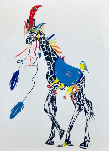 Millie McCallum, Giraffe with Blue Saddle