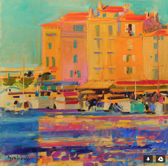 Peter Graham, Late Afternoon, Saint Tropez, In Hong Kong