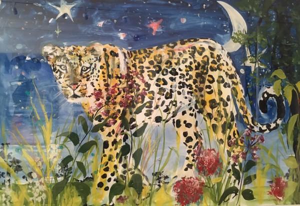 Millie McCallum, Leopard in Night Sky