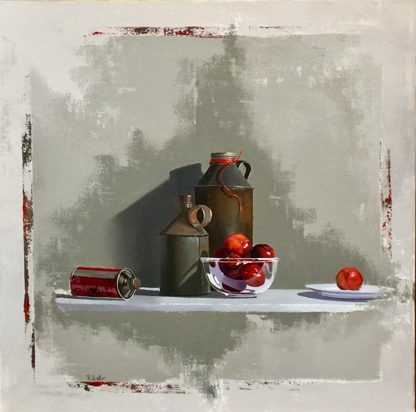 Robert Walker, Red String Can with Plums, In Hong Kong